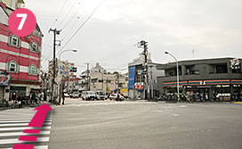Go straight about 100m from the Namidabashi crossing, you can find Palace Japan!